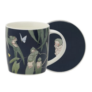 May Gibbs by Ecology Mug & Coaster Set Gumnut Babies Ink