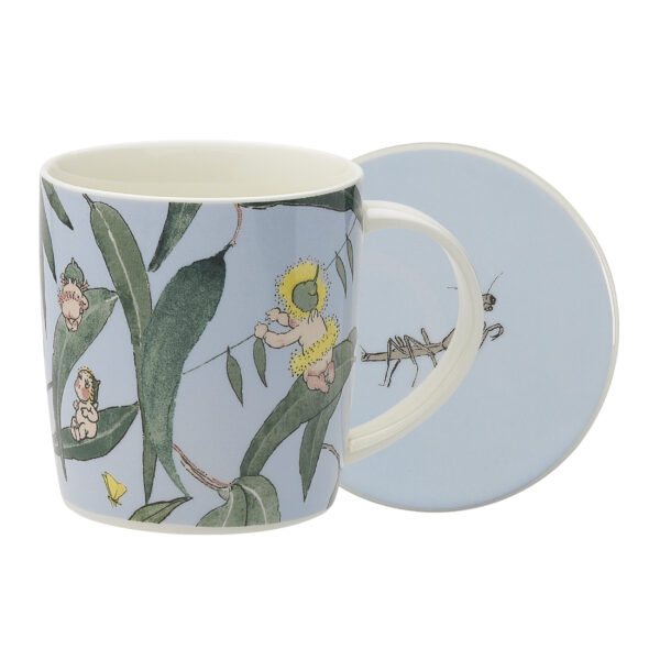 May Gibbs by Ecology Mug & Coaster Set Gumnut Babies Light Blue