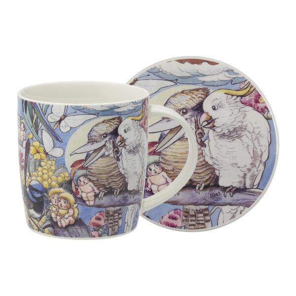 May Gibbs by Ecology Mug & Coaster Set Bush Tales