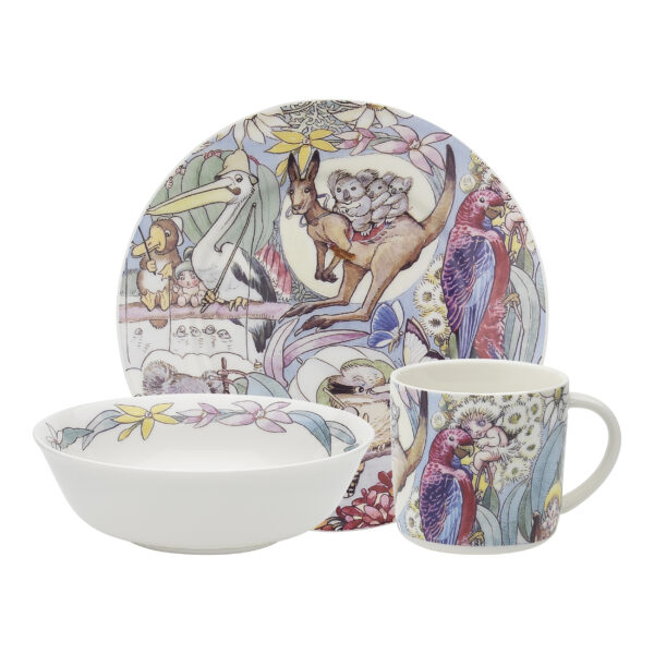 May Gibbs by Ecology Children's Plate, Bowl & Mug Set Bush Tales