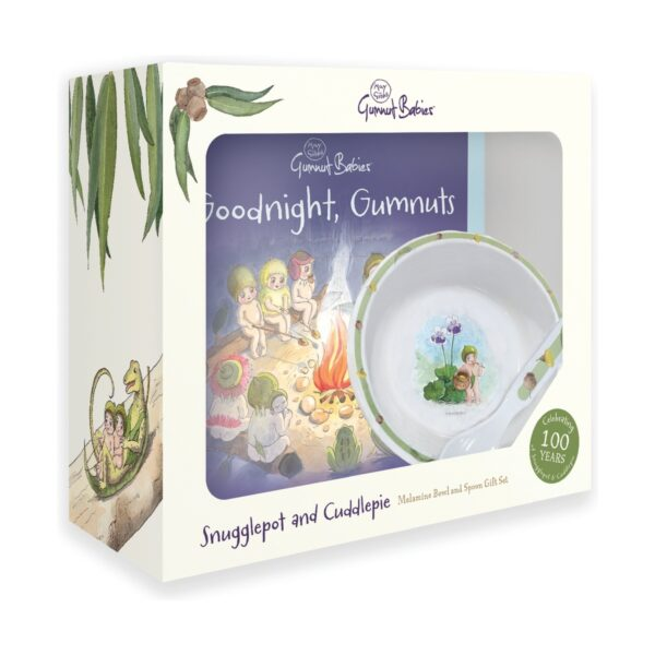 Snugglepot and Cuddlepie Bowl and Spoon Gift Set Goodnight Gumnuts