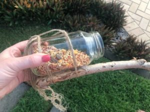 Upcycle a Jar into a Bird Feeder