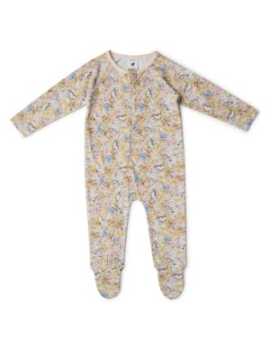 May Gibbs x Walnut Melbourne Ziggy Onesie Gum Blossom