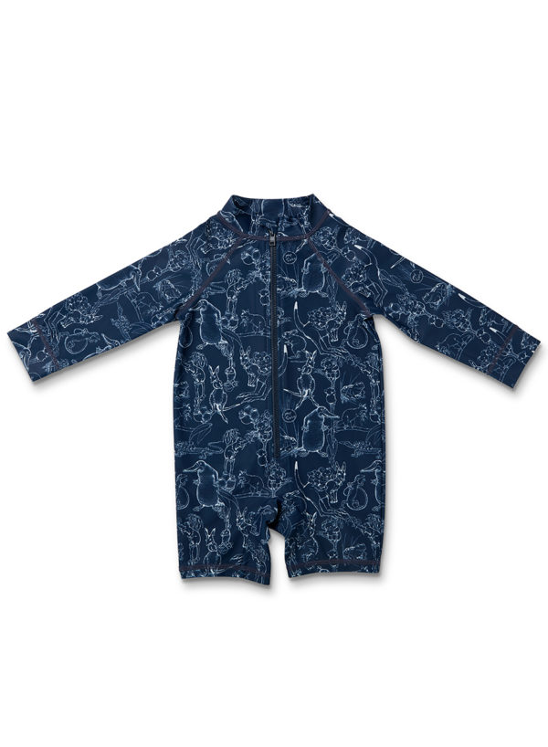 May Gibbs x Walnut Melbourne Pippie Long Sleeve Swimsuit Bush Dance Navy