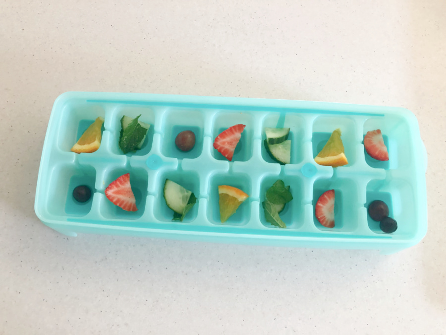 Fruit Ice Cubes Step 2