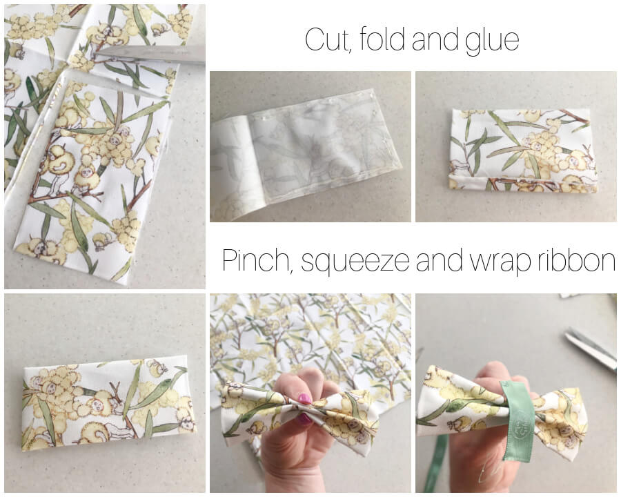 Instructions No Sew Bow Clips