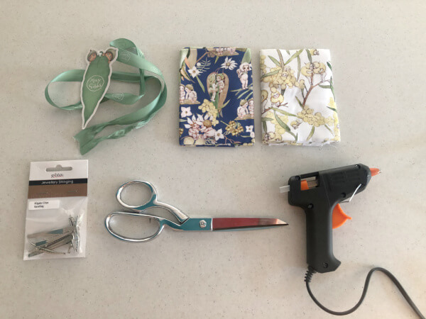 Materials for No Sew Bow Clips
