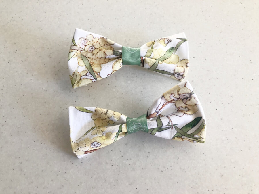 No Sew Bow Clips Finished